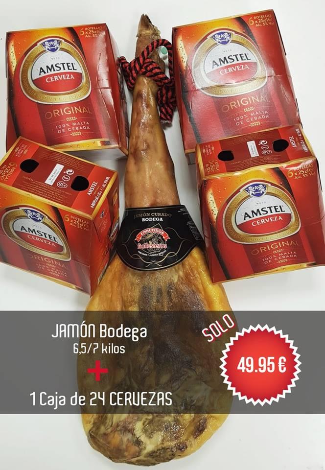 Promo verano 2018: Jamón bodega + caja de cervezas