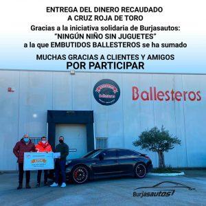 Entrega de lo recaudado a Cruz Roja Española